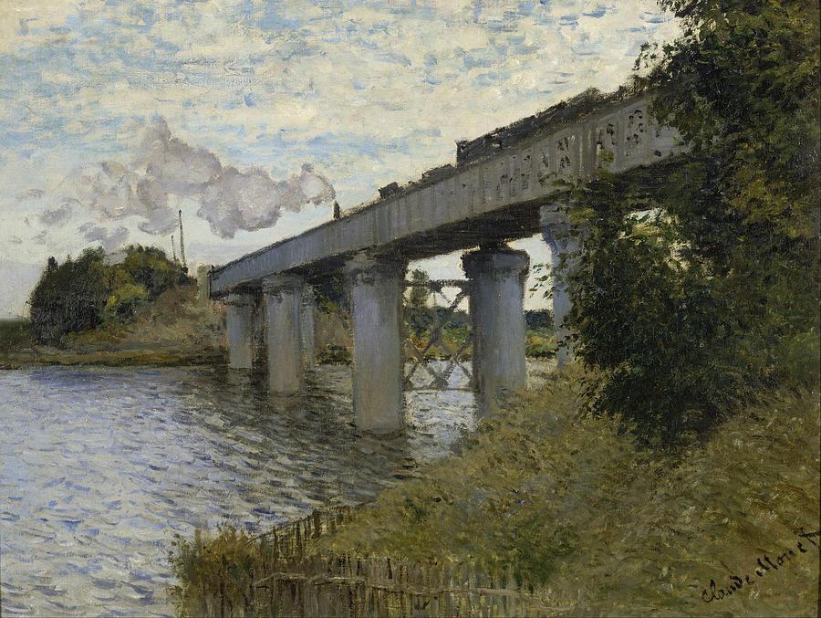 Claude Monet The Railroad Bridge In Argenteuil