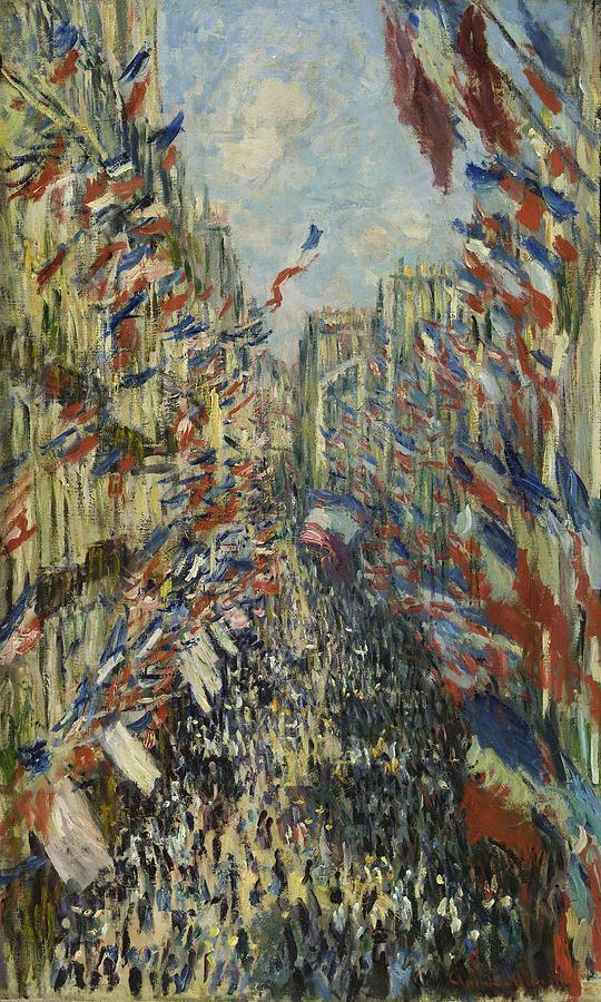Claude Monet The Rue Montorgueil in Paris