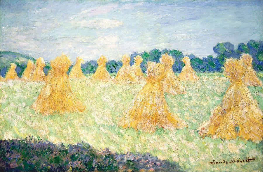 Claude Monet The Young Ladies Of Giverny