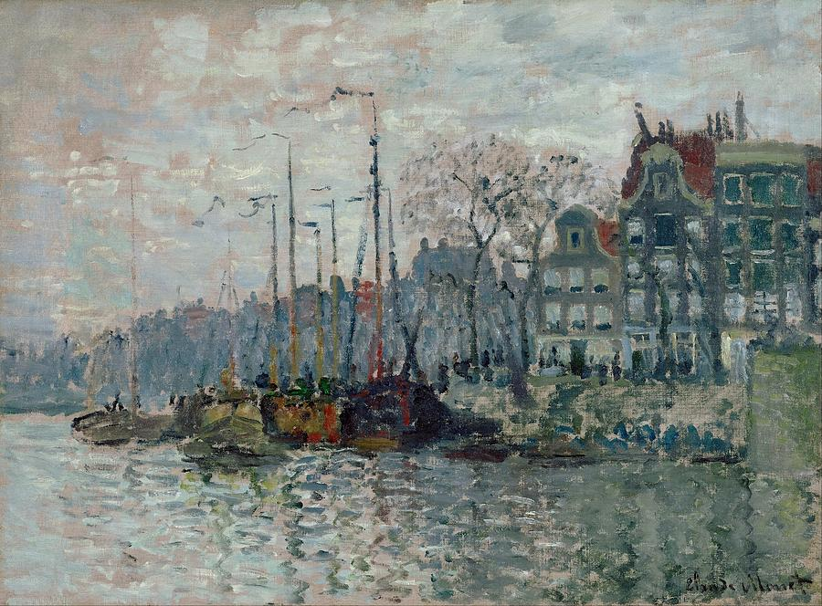 Claude Monet View Of The Prins Hendrikkade