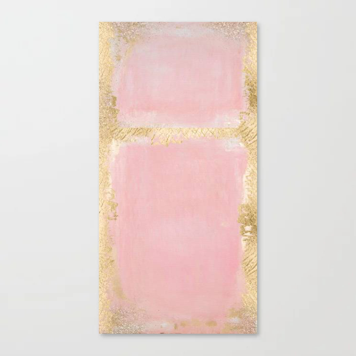 Blush Pink And Gold Abstract Art Painting
