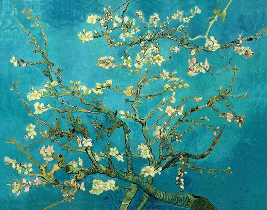 Vincent Van Gogh Blossoming Almond Tree Poster